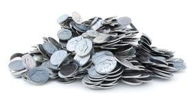 Νομίσματα ΑΜΕΡΙΚΑΝΙΚΩΝ δεκαρών, λαμπρή, μεταλλική, τρισδιάστατη απόδοση απεικόνιση αποθεμάτων