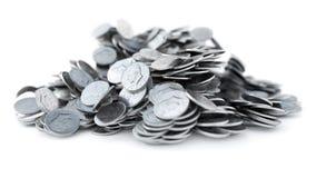 Νομίσματα ΑΜΕΡΙΚΑΝΙΚΩΝ δεκαρών, λαμπρή, μεταλλική, τρισδιάστατη απόδοση ελεύθερη απεικόνιση δικαιώματος