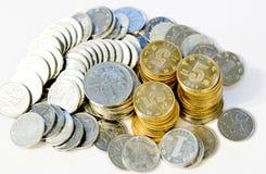 νομίσματα ανασκόπησης στοκ εικόνα με δικαίωμα ελεύθερης χρήσης
