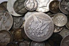 νομίσματα ασημένια εμείς Στοκ εικόνα με δικαίωμα ελεύθερης χρήσης