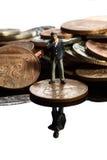 Νομίσματα Α επιχειρησιακού αριθμού Στοκ Φωτογραφίες