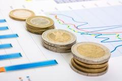 νομίσματα διαγραμμάτων Στοκ Φωτογραφίες