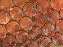 Νομίσματα ενός δολαρίου σεντ, Ηνωμένες Πολιτείες Στοκ Εικόνα