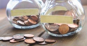 Νομίσματα ενός σεντ Στοκ εικόνα με δικαίωμα ελεύθερης χρήσης