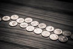 Νομίσματα επετείου lat ενός παλαιού λετονικού νομίσματος - μονοχρωματικό VI Στοκ Φωτογραφίες
