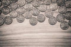 Νομίσματα επετείου lat ενός παλαιού λετονικού νομίσματος - μονοχρωματικό VI Στοκ Εικόνες