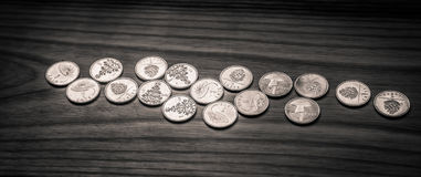 Νομίσματα επετείου lat ενός παλαιού λετονικού νομίσματος - μονοχρωματικό VI Στοκ Εικόνα