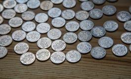 Νομίσματα επετείου lat ενός παλαιού λετονικού νομίσματος Στοκ Εικόνα