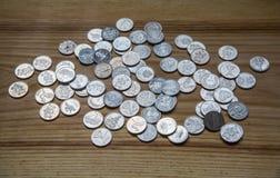 Νομίσματα επετείου lat ενός παλαιού λετονικού νομίσματος Στοκ εικόνες με δικαίωμα ελεύθερης χρήσης