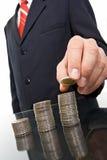 νομίσματα επιχειρηματιών στοκ φωτογραφίες