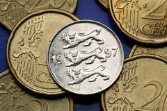 νομίσματα Εσθονία Στοκ φωτογραφίες με δικαίωμα ελεύθερης χρήσης