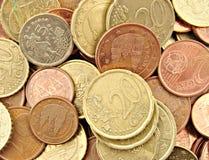 νομίσματα ευρωπαϊκά Στοκ φωτογραφία με δικαίωμα ελεύθερης χρήσης