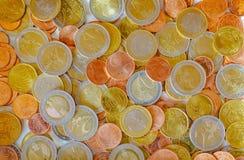 νομίσματα ευρωπαϊκά Στοκ Φωτογραφία