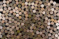 Νομίσματα ευρω-σεντ Στοκ Εικόνα