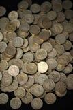 νομίσματα διεσπαρμένα Στοκ φωτογραφίες με δικαίωμα ελεύθερης χρήσης