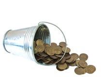 νομίσματα κάδων στοκ φωτογραφία με δικαίωμα ελεύθερης χρήσης