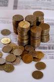 Νομίσματα και απολογισμός Στοκ εικόνες με δικαίωμα ελεύθερης χρήσης