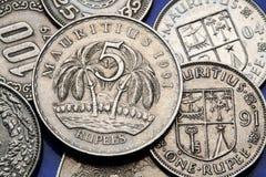 νομίσματα Μαυρίκιος Στοκ Εικόνες