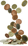 νομίσματα μειωμένο UK Στοκ Εικόνα