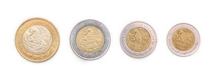 νομίσματα μεξικανός Στοκ Φωτογραφία
