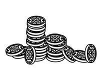 Νομίσματα με την ημέρα Αγίου τριφυλλιού patricks διανυσματική απεικόνιση
