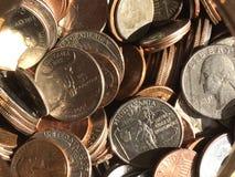 Νομίσματα μια πυράκτωση Στοκ εικόνα με δικαίωμα ελεύθερης χρήσης