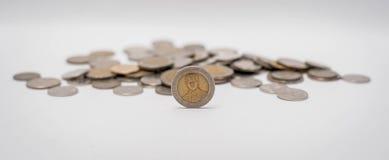 Νομίσματα μπατ που συσσωρεύονται από κοινού Στοκ Φωτογραφία