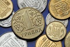 νομίσματα Ουκρανία Στοκ φωτογραφία με δικαίωμα ελεύθερης χρήσης