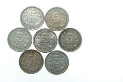 νομίσματα πέντε ρουπία της &I Στοκ εικόνα με δικαίωμα ελεύθερης χρήσης
