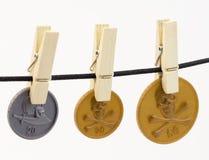 Νομίσματα πειρατών Στοκ εικόνα με δικαίωμα ελεύθερης χρήσης