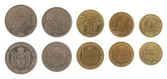 Νομίσματα που απομονώνονται σερβικά στο λευκό στοκ εικόνες
