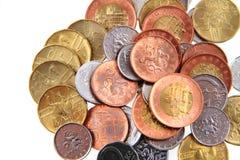 Νομίσματα που απομονώνονται τσεχικά Στοκ φωτογραφία με δικαίωμα ελεύθερης χρήσης