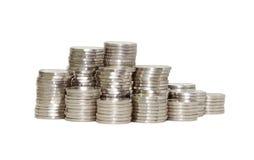 Νομίσματα που απομονώνονται Στοκ φωτογραφία με δικαίωμα ελεύθερης χρήσης