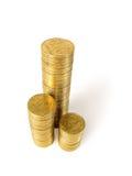 Νομίσματα που απομονώνονται Στοκ εικόνες με δικαίωμα ελεύθερης χρήσης