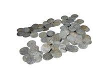 νομίσματα που απομονώνον&ta στοκ εικόνα με δικαίωμα ελεύθερης χρήσης