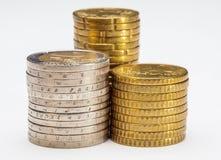 νομίσματα που συσσωρεύονται Στοκ φωτογραφία με δικαίωμα ελεύθερης χρήσης