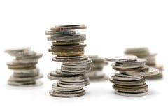 νομίσματα που συσσωρεύονται Στοκ εικόνες με δικαίωμα ελεύθερης χρήσης