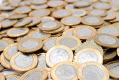 νομίσματα πραγματικά Στοκ Εικόνες