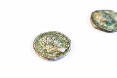 νομίσματα Ρωμαίος νομίσματα παλαιά σπάνιος ιστορικός Στοκ φωτογραφία με δικαίωμα ελεύθερης χρήσης