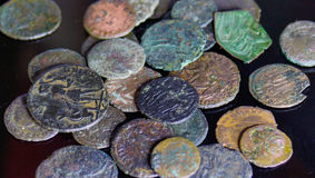 νομίσματα Ρωμαίος Στοκ Φωτογραφίες