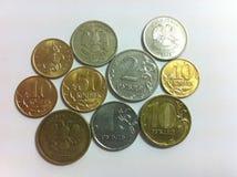 νομίσματα ρωσικά Στοκ εικόνα με δικαίωμα ελεύθερης χρήσης