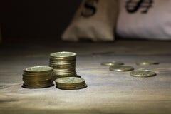 Νομίσματα σε μια στήλη Στοκ Εικόνες