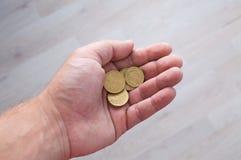 Νομίσματα στη διάθεση Στοκ Φωτογραφίες