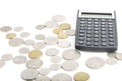 Νομίσματα στο λευκό Στοκ Εικόνες