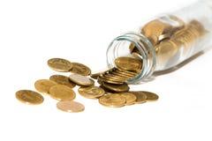 Νομίσματα στο μπουκάλι Στοκ εικόνα με δικαίωμα ελεύθερης χρήσης