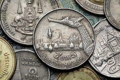 νομίσματα Ταϊλάνδη Στοκ εικόνες με δικαίωμα ελεύθερης χρήσης