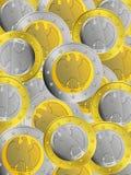 νομίσματα τα ευρο- γερμα&n διανυσματική απεικόνιση