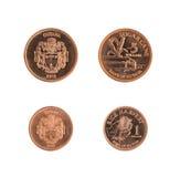 Νομίσματα της Γουιάνας ενός και πέντε δολαρίων Στοκ φωτογραφία με δικαίωμα ελεύθερης χρήσης