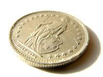 Νομίσματα της Ελβετίας Στοκ φωτογραφίες με δικαίωμα ελεύθερης χρήσης
