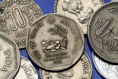 Νομίσματα της Ινδίας Στοκ φωτογραφίες με δικαίωμα ελεύθερης χρήσης